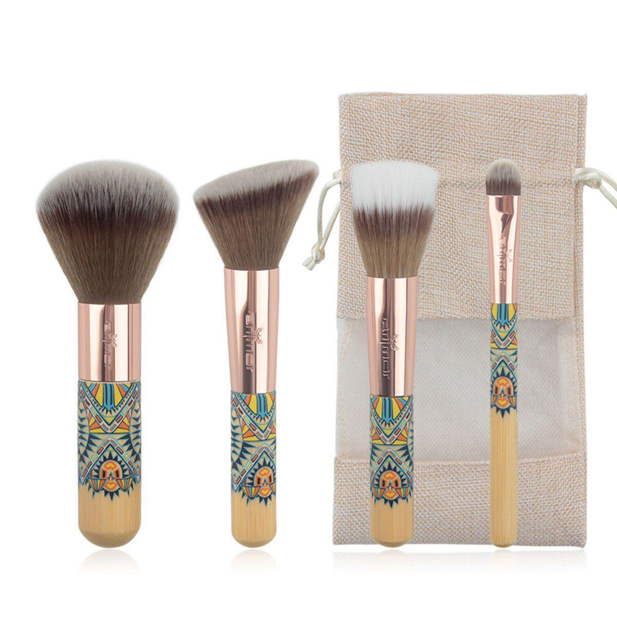 New Travelling Makeup Brush Set 4 Piece Fantasy Makeup Brushes Synthetic Powder Blush Eyeshadow Make Up Brushe Makeup Brush Set Makeup Brushes Eyeshadow Makeup
