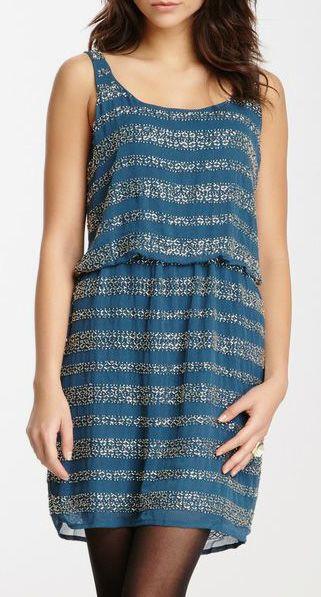 Romeo & Juliet Couture Stripe Embellished Dress