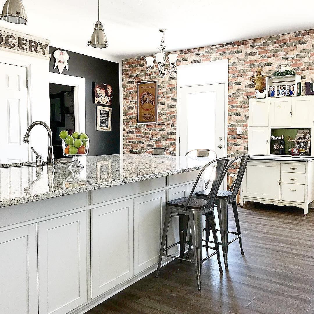 """wooded_homestead's """"exposed brick wall"""" made using peel"""