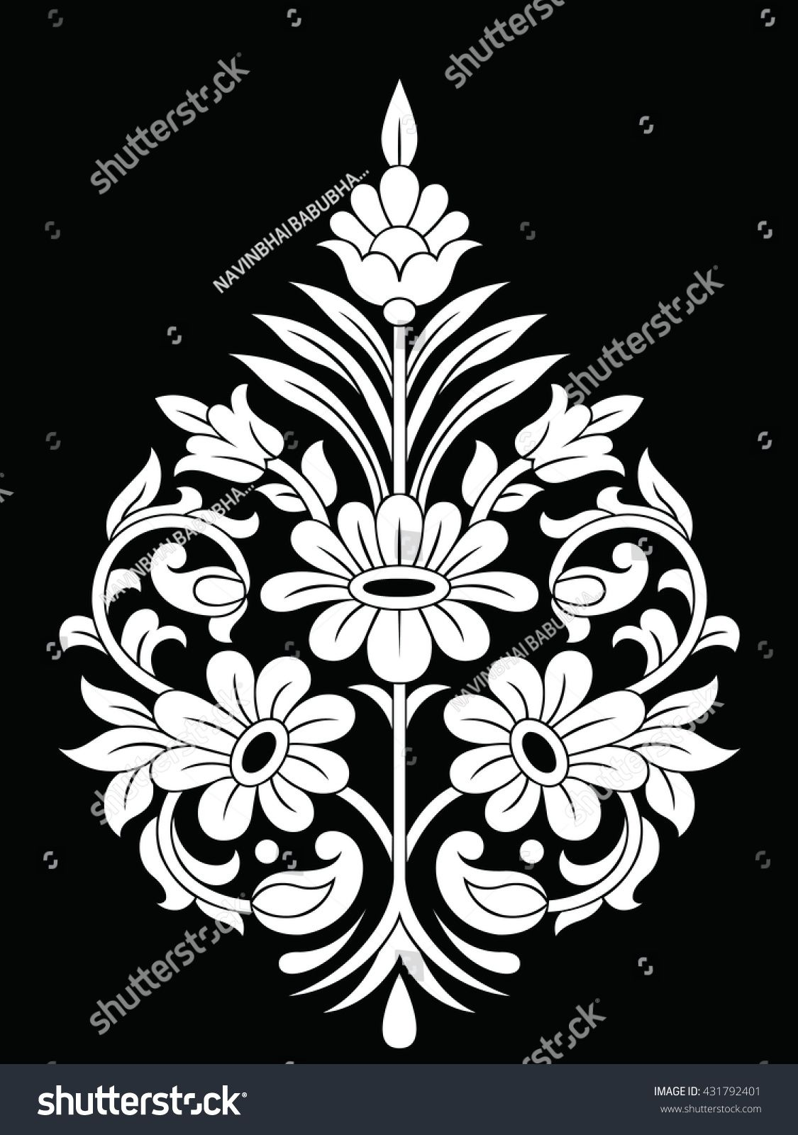 Traditional Indian motif (With images) Flower embroidery