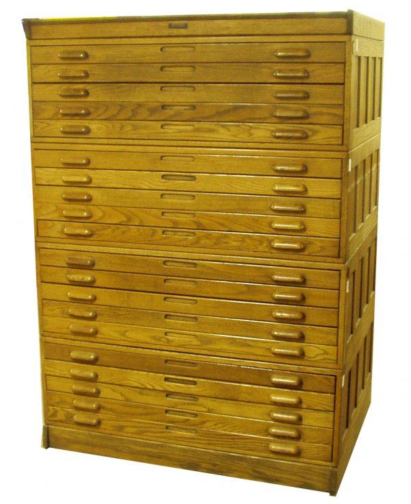 15 oak blueprint cabinet on 15 oak blueprint cabinet on liveauctioneers malvernweather Images