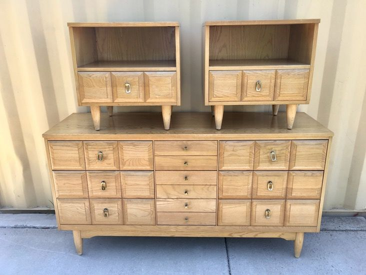 Beautiful Mid Century Dresser Set By La Period Midcentury Midcenturyfurniture Midcenturydecor
