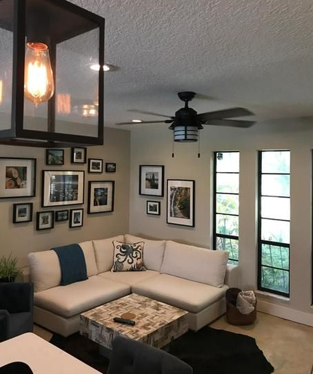 Hunter Key Biscayne 54 In Indoor Outdoor Weathered Zinc Gray Ceiling Fan With Light Kit 59135 At The Home Depot Mobile