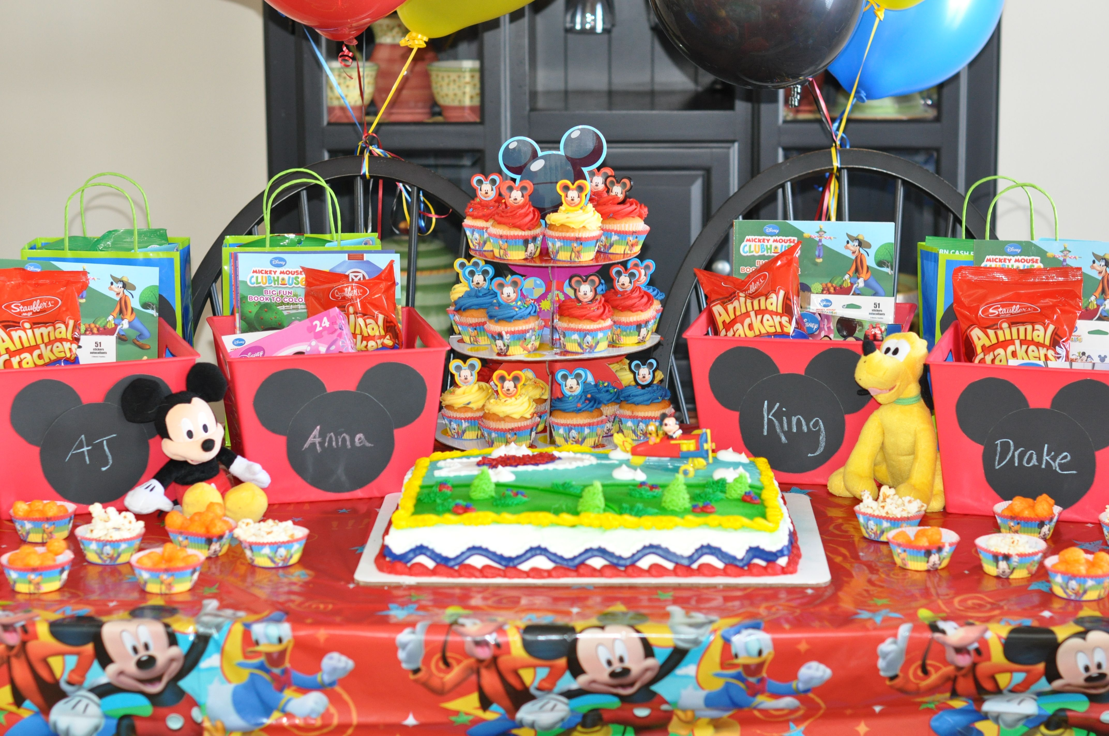 Mickey Mouse clubhouse birthday party favors | Andrew Birthday ...