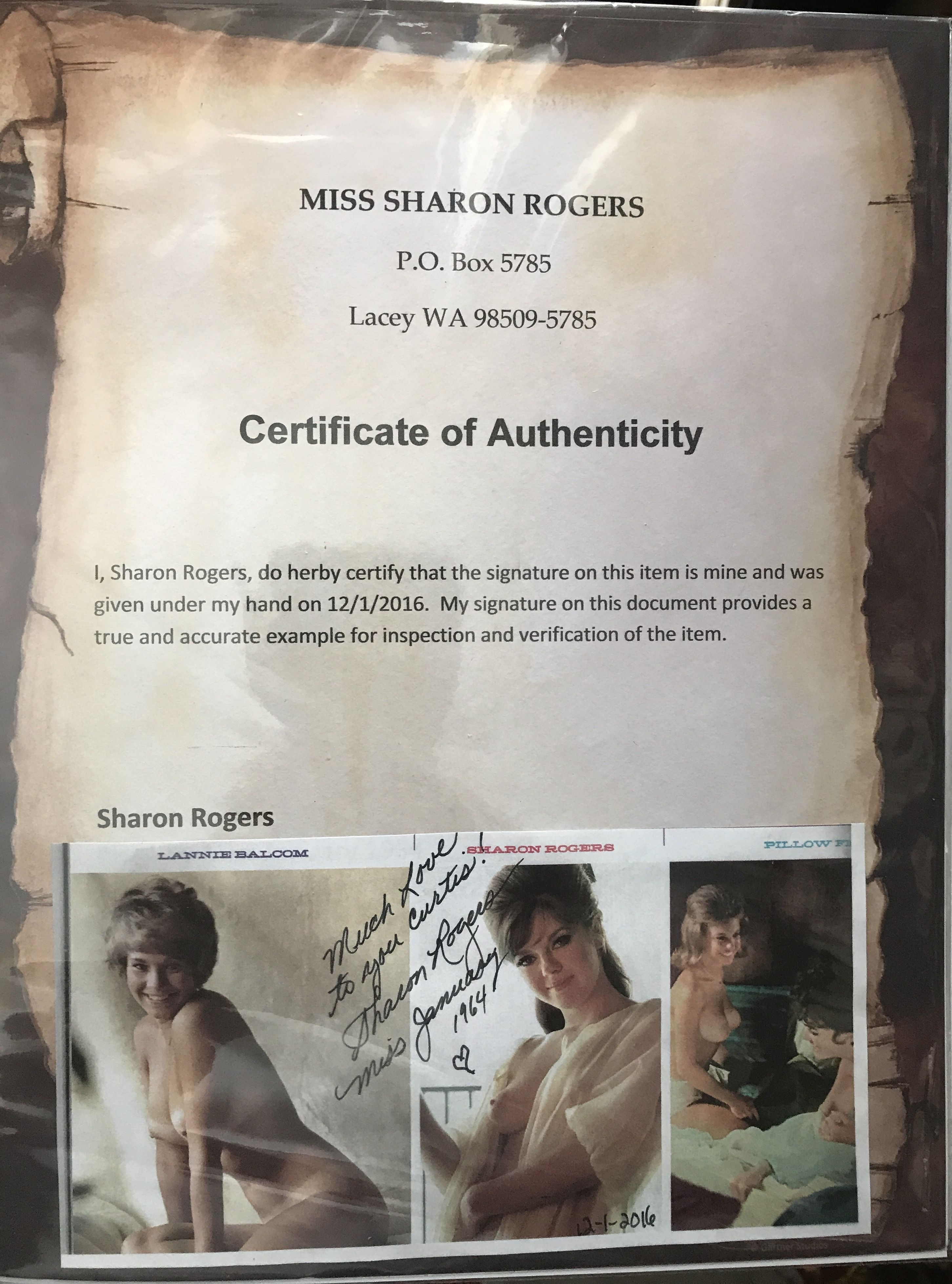 Here Is Another Example Of A Certificate Authenticity From Magazine That I Purchased Directly