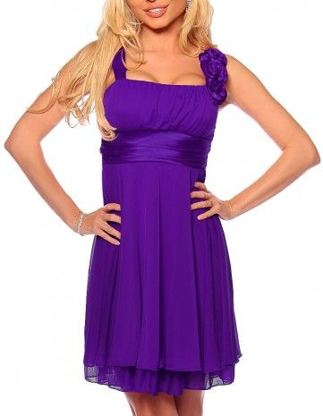 $89.99 New Designer Gathered Empire Flowy Cocktail Party Dress