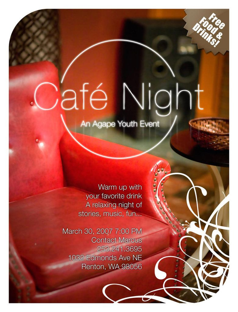 cafe night flyer by surrealskies dtp ideas inspiration ideas night
