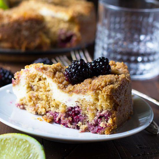 Blackberry Coffee Cake #dan330 http://livedan330.com/2015/07/05/blackberry-lime-cream-cheese-coffee-cake/