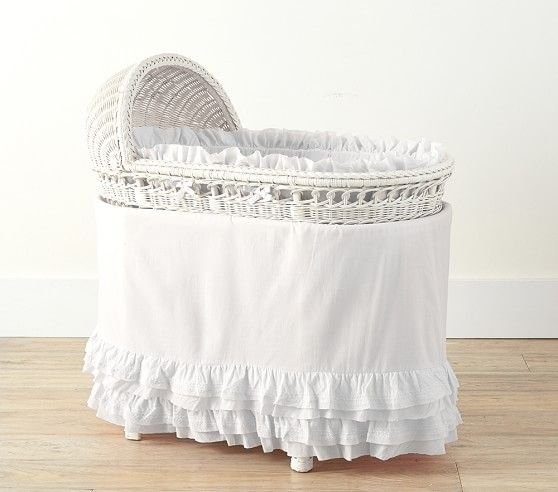 Baby Bassinet Pottery Barn Organic Sadie Ruffle Bassinet Bedding Bassinet Pottery