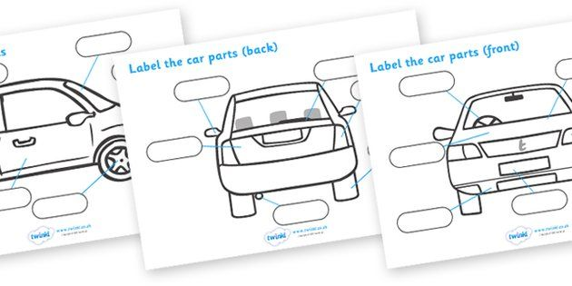 Label The Car Parts - car, cars, parts of the car, label   Stick ...