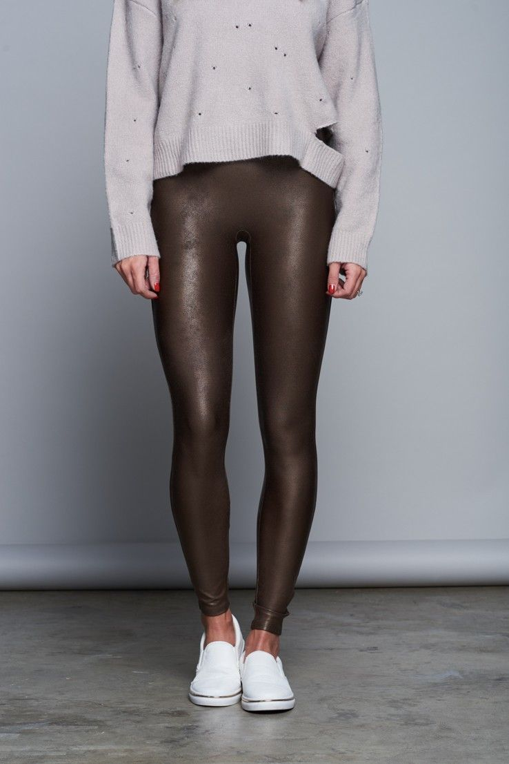 20652ae9b  Spanx Faux Leather Leggings - Bronze      98 - Sale! Up to 75% OFF! Shop  at Stylizio for women s and men s designer handbags