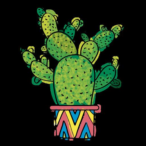 Hand Drawn Watercolor Multiple Cactus Png Kaktus