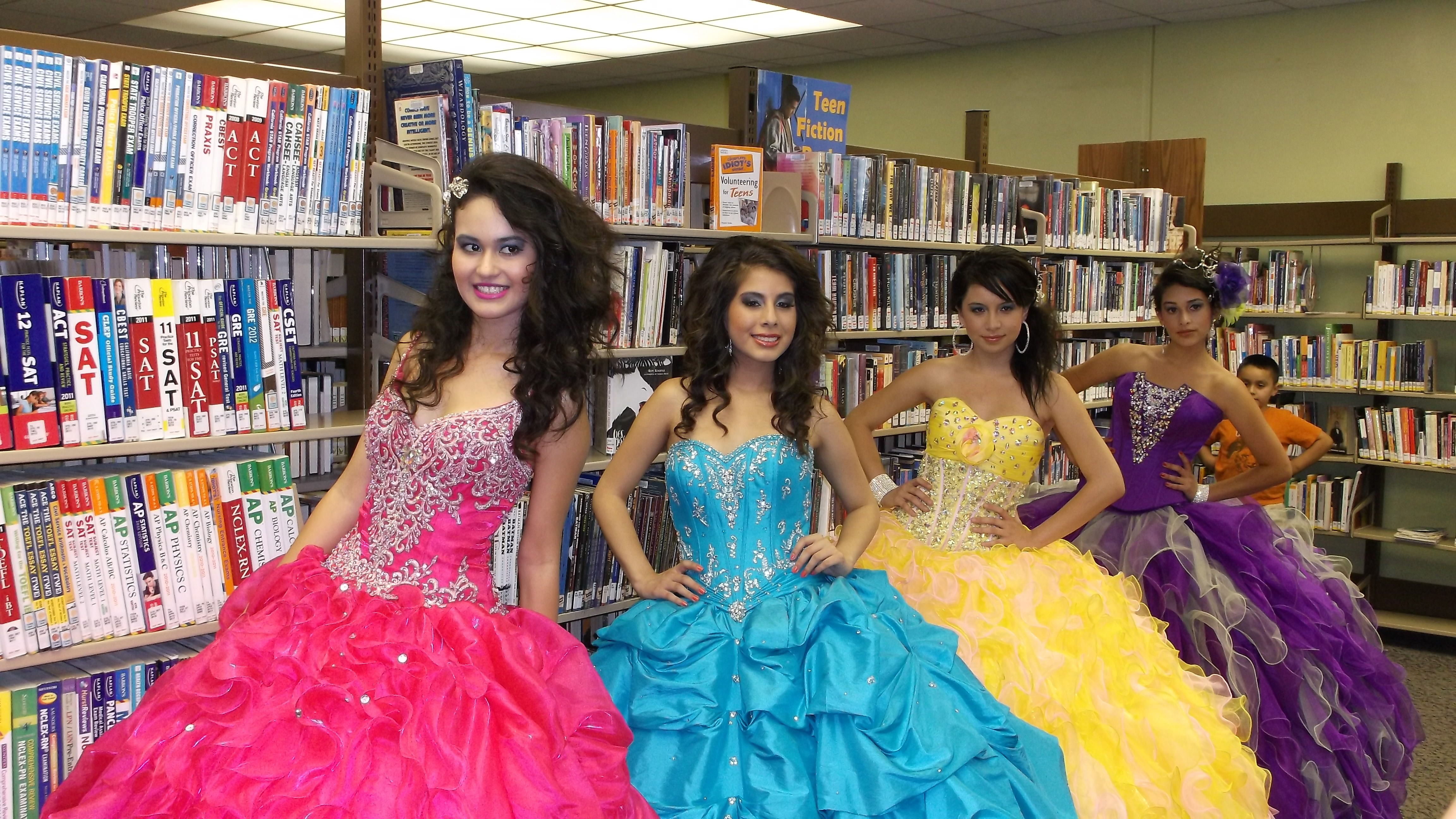 Quinceanera Fashion Show models (plus one...)