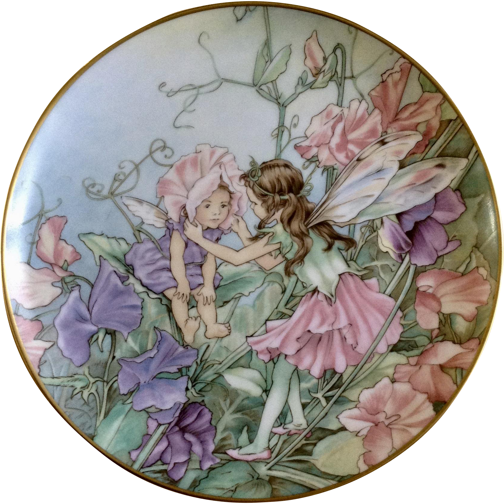 1980 The Sweet Pea Fairy Collectors Plate Flower Fairies By Heinrich H C Villeroy Boch Germany Discontinued Flower Fairies Flower Plates Sweet Pea