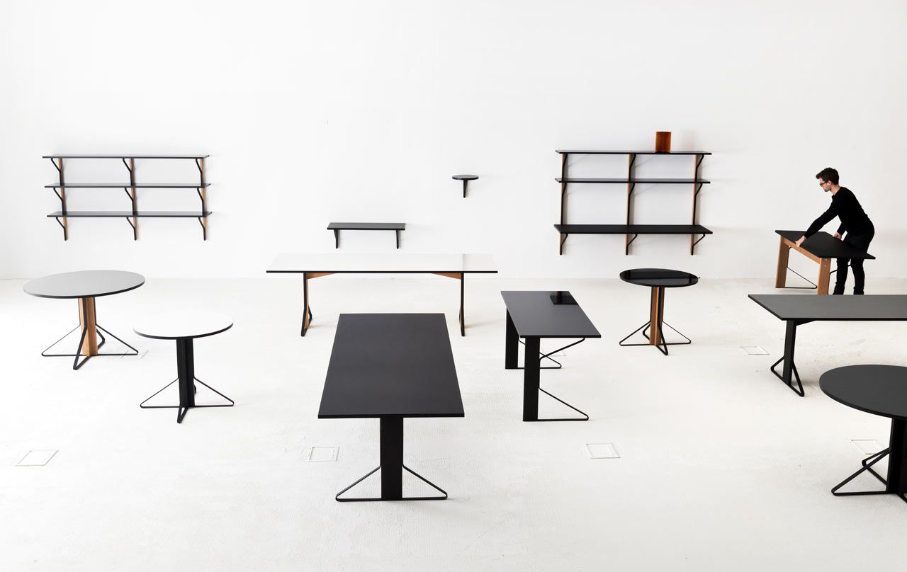 A Collection By The Bouroullec Brothers For Artek Which Includes Tables, A  Desk, A