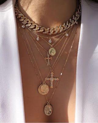 Modeschmuck 2019, Modeschmuck, Halsketten, Armbänder.: Modehalskette ... Bijou...