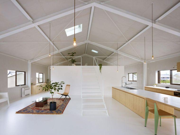 Come arredare mansarda open space con soppalco pavimento for Arredare loft open space