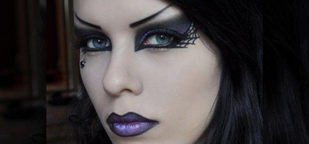 Create Punk Rock Witch Makeup Look For Halloween Fun Lipstick