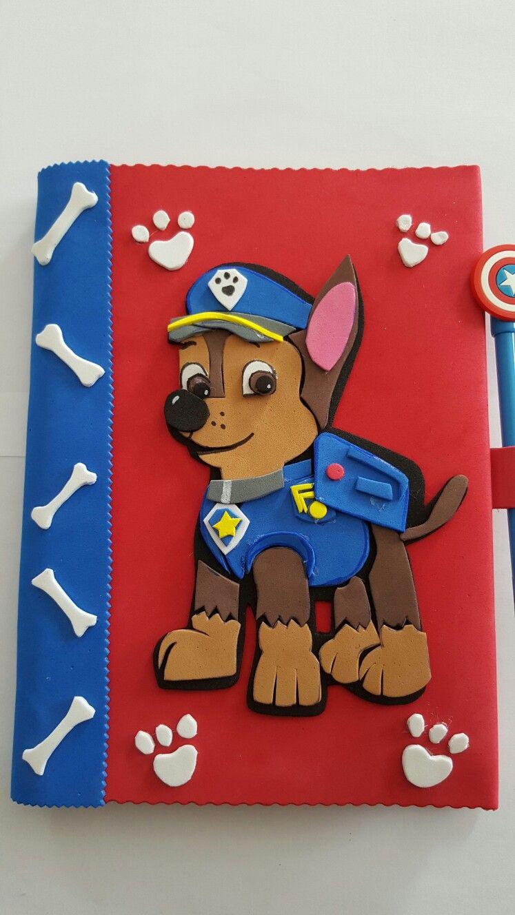 Cuaderno patrulla canina goma eva marshall cuadernos - Manualidades patrulla canina ...