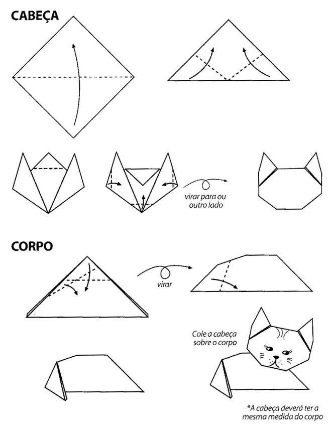 origami gatito
