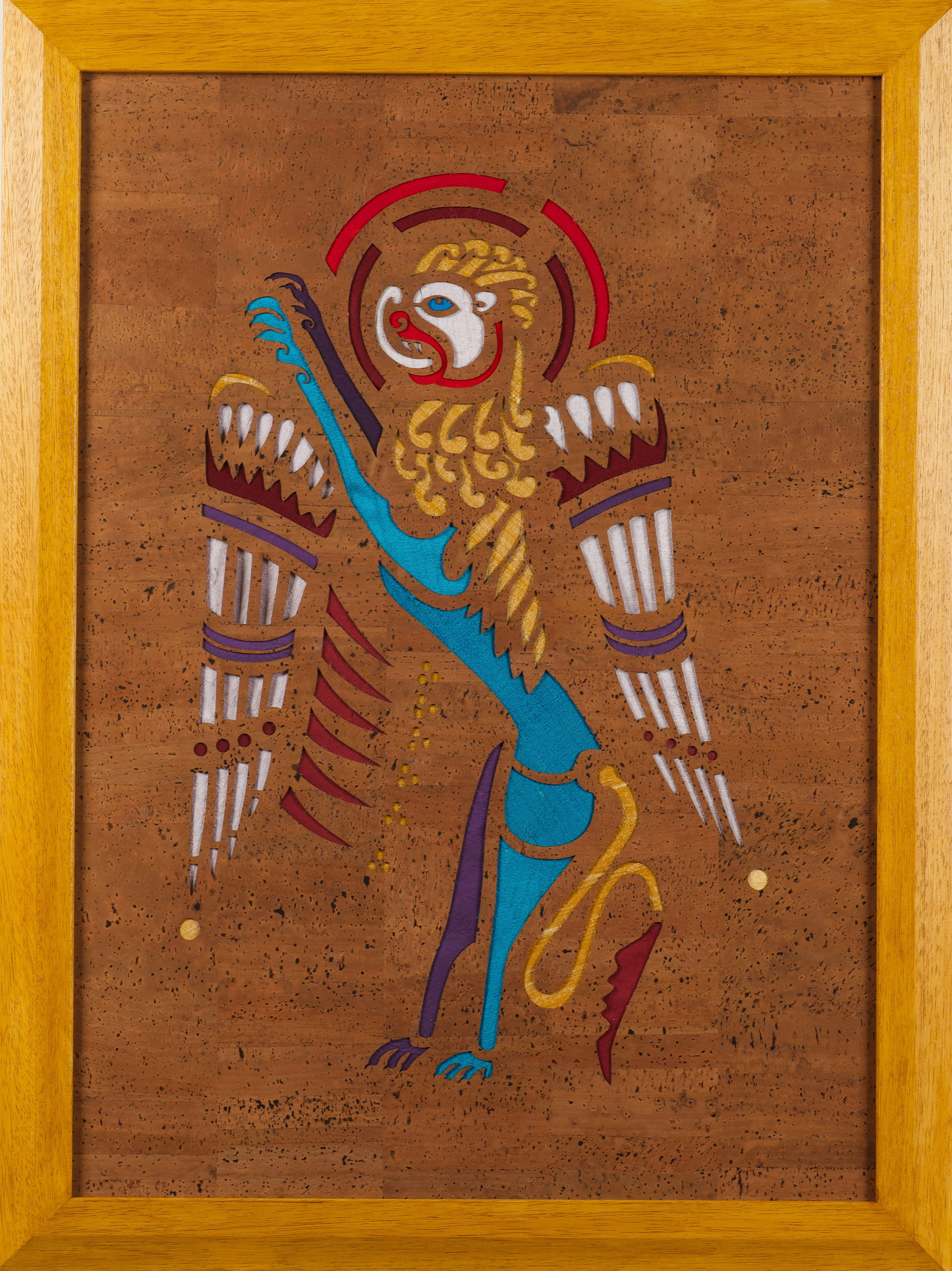 This cork and silk panel of the lion of st mark is like the st this cork and silk panel of the lion of st mark is like the st matthew and st john panels based an illustration from the book of kells biocorpaavc