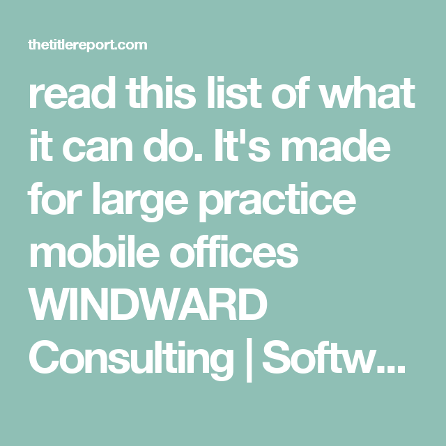 Read This List Of What It Can Do ItS Made For Large Practice
