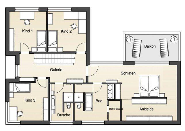 Grundriss Erdgeschoss Flachdachhaus Individuell Von Jetzthaus