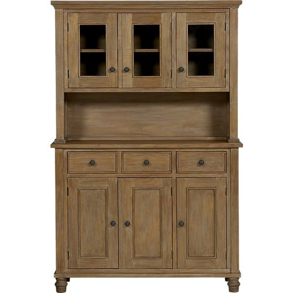 Kipling Grey Wash Buffet With Hutch Top In Sale Dining