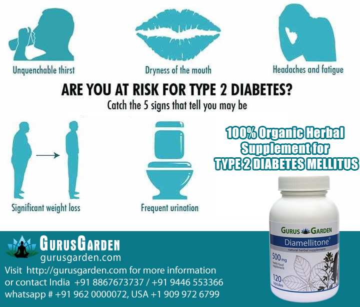 100% Organic Herbal Supplement for Type 2 Diabetes Mellitus