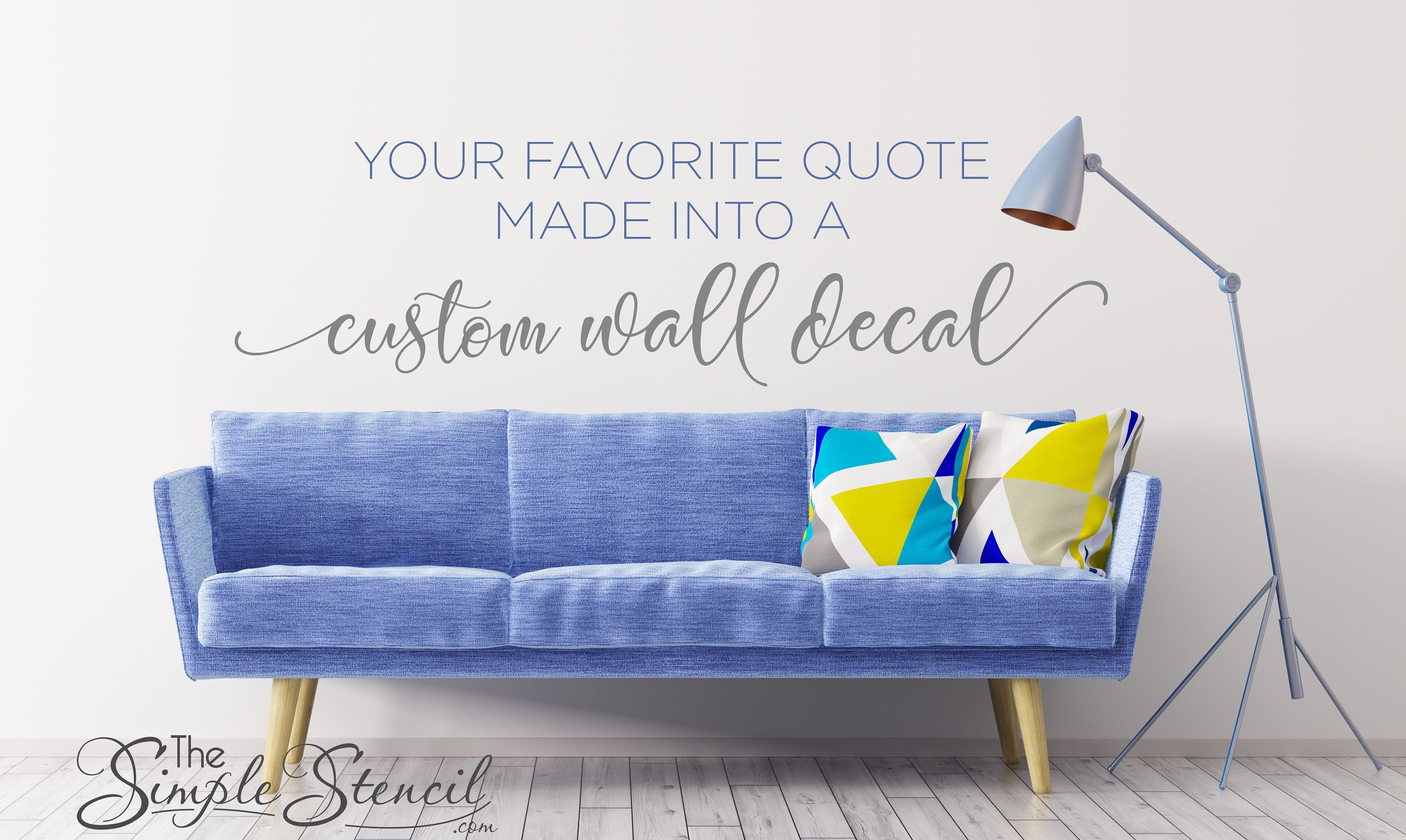 Custom wall decal quote create your own wall words removable self adhesive wall stickers