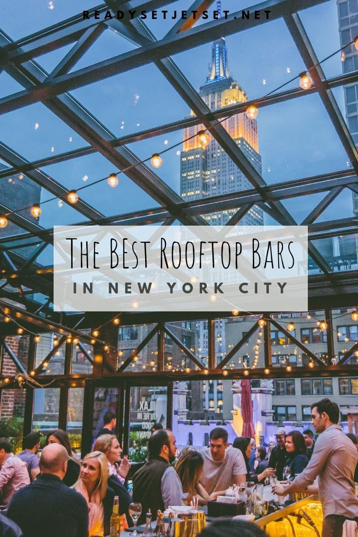 The 14 Best NYC Rooftop Bars with a Skyline View #vacationdestinations