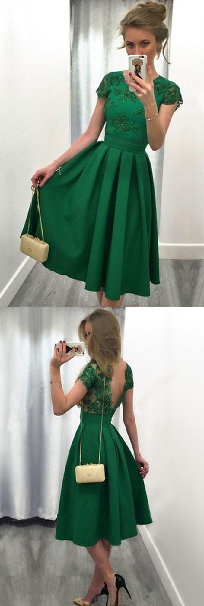 Casual prom dressesaline prom dressscoop neck satin tulle prom