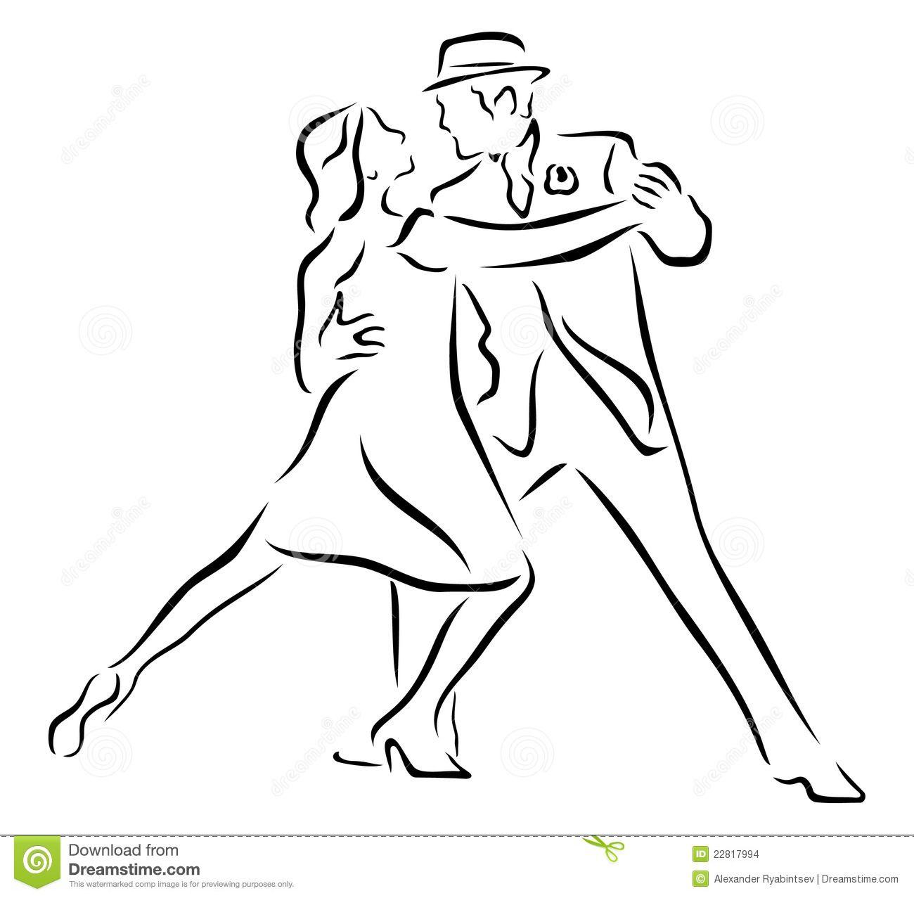 Resultado de imagen para siluetas de tango | Idée toiles | Pinterest ...