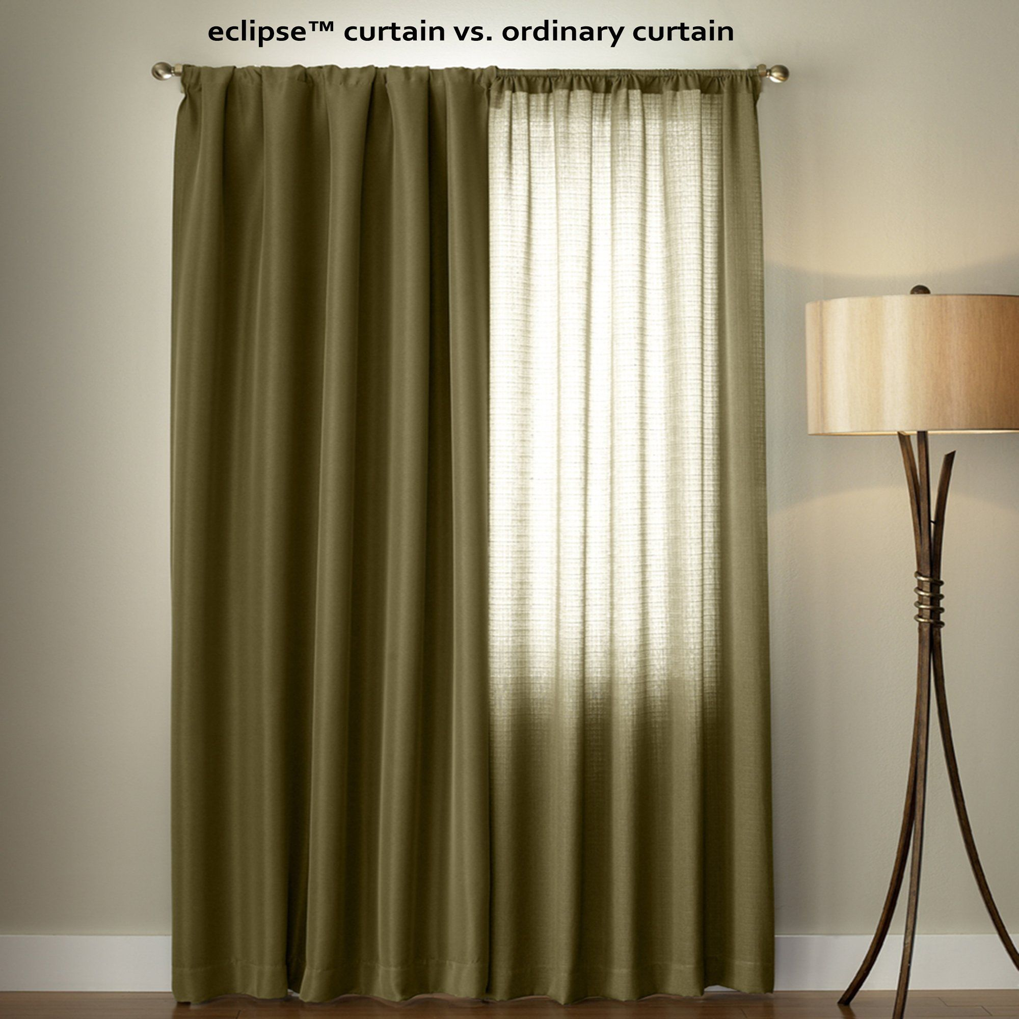 Lemon Green Curtains Eclipse 10707042x084lmn Kendall 42inch By 84inch Thermaback Room