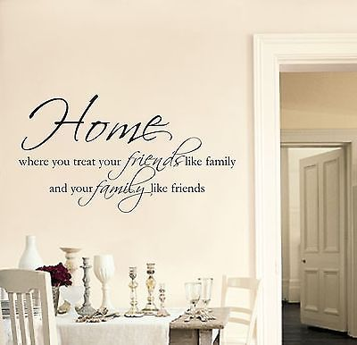 Details about Home Friends Family Wall art sticker decal quote