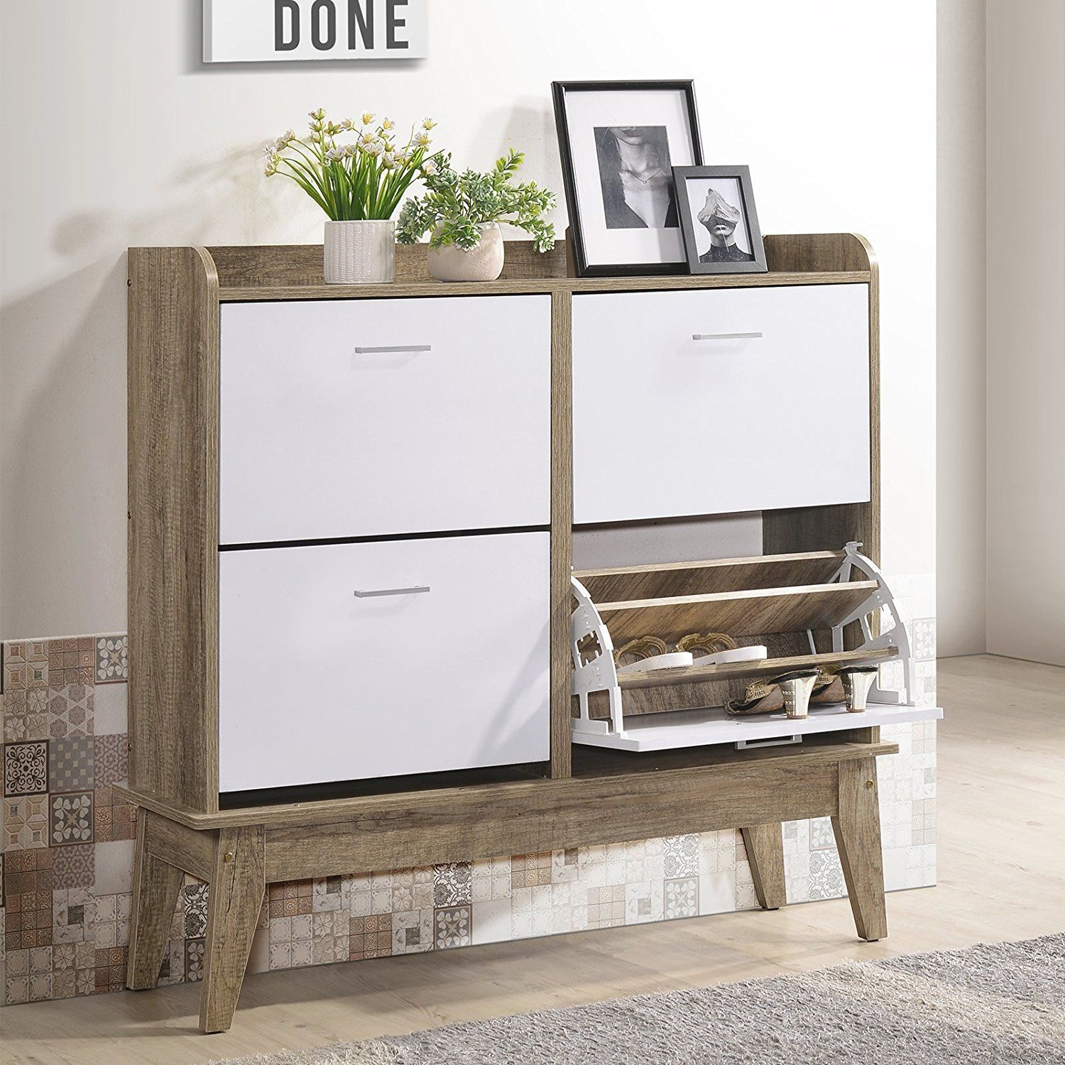 Definitely A Must Have Home Essential Our Shoe Cabinet Is The Perfect Combination Between Functionality And Design Featuring 3 S Cabinet Shoe Cabinet Storage