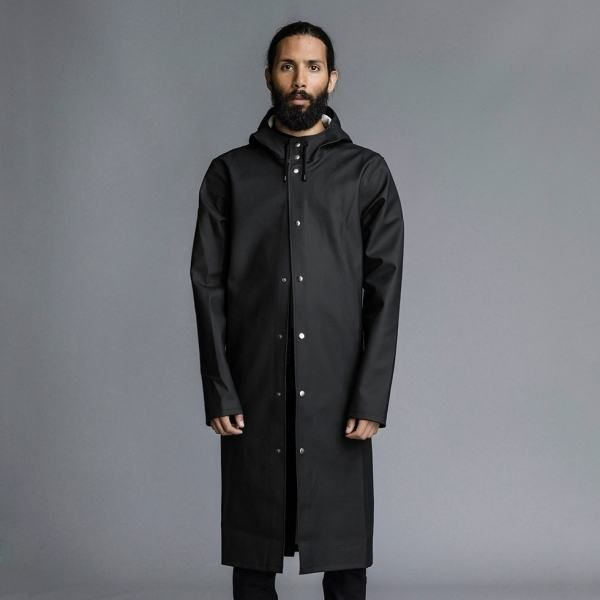 e3daaa7c106b Stockholm Lång – Long Black Raincoat – Stutterheim Raincoats ...