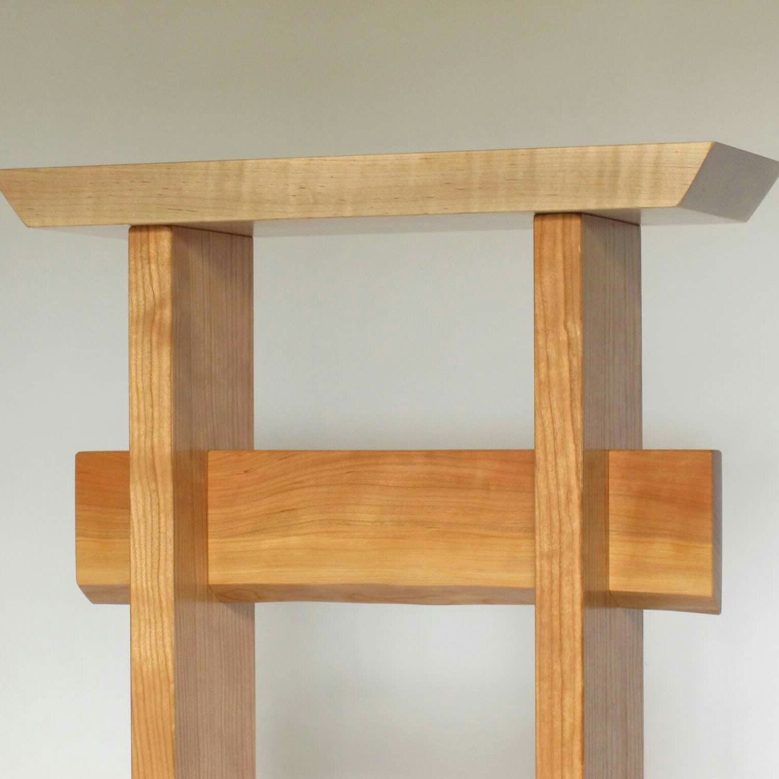 Cherry & Maple Entryway Table: Narrow Foyer Furniture