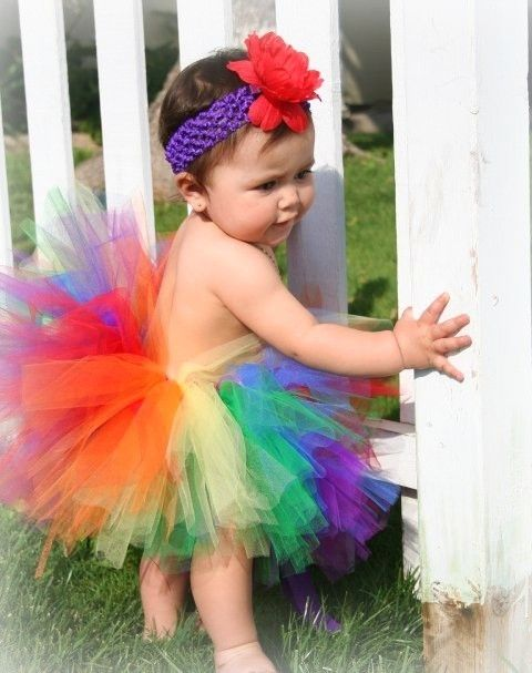 Rainbow tutu and flower headband for rainbow flowergirl... Wedding ideas for brides, grooms, parents & planners ... https://itunes.apple.com/us/app/the-gold-wedding-planner/id498112599?ls=1=8 … plus how to organise an entire wedding, without overspending ♥ The Gold Wedding Planner iPhone App ♥