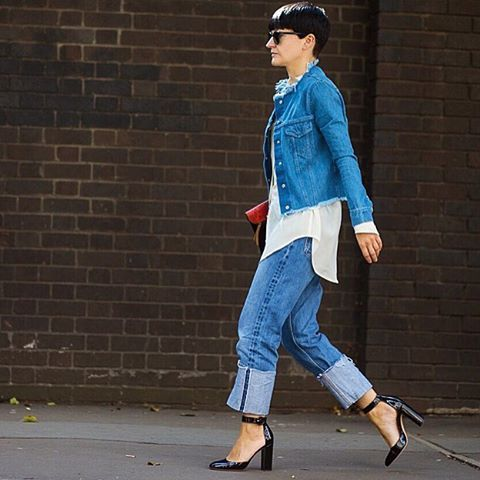 @PORTERMagazine's Fashion Features Director @KayaBarron inspires us to rethink double denim in a must-have #marquesalmeida jacket. Steal her #style at #NETAPORTER #streetstyle by @theurbanspotter