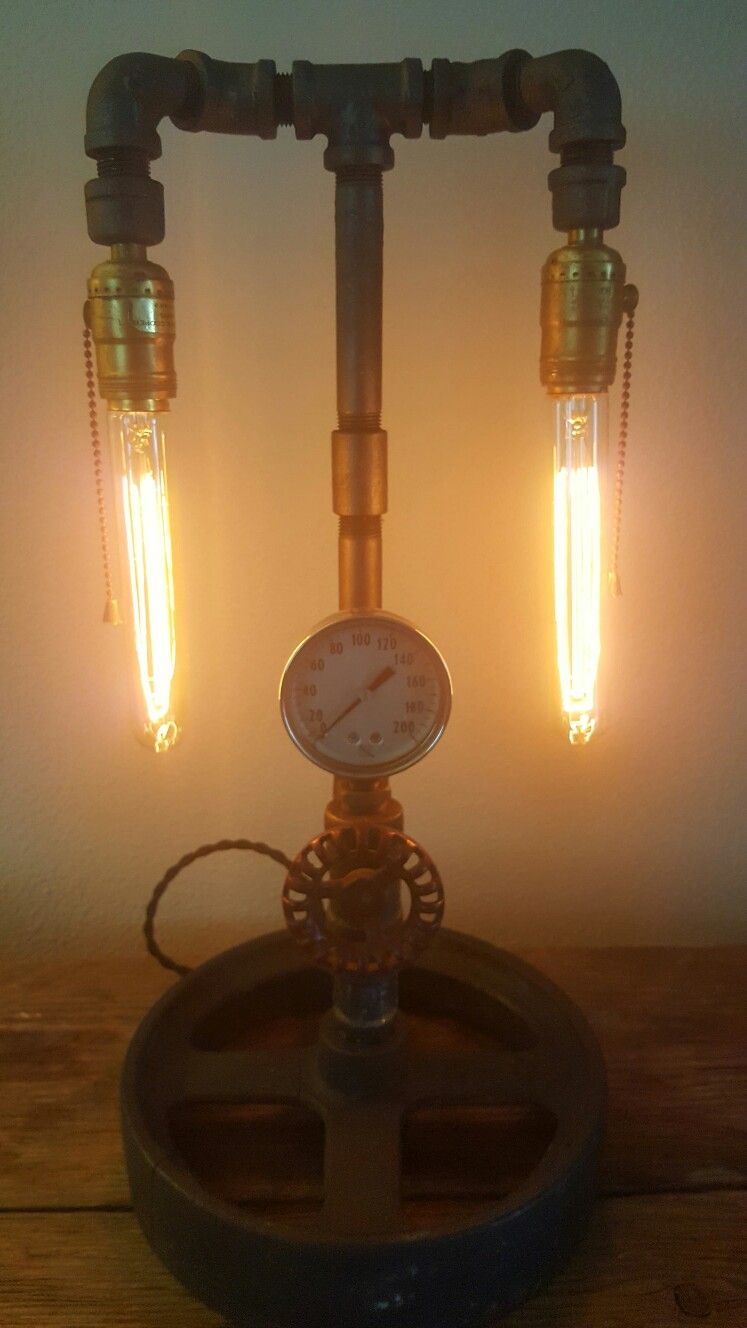 Steampunk Lamp With Images Steampunk Lamp Edison Light Bulbs Light Bulb