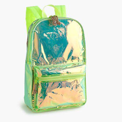 Girls' iridescent backpack - accessories - Girls - J.Crew