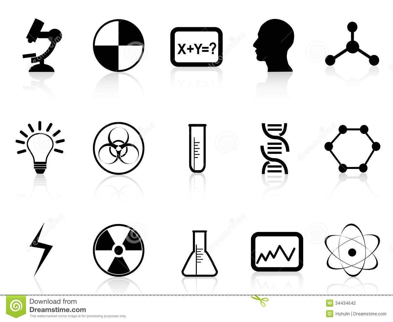 Thumbs Dreamstime Z Black Science Symbols White