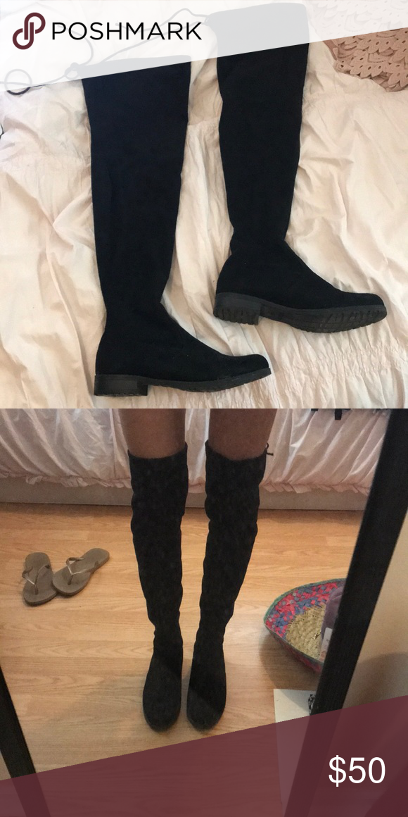 94c9434cdbf Unisa Thigh High (over the knee) Suede Black Boots Suede thigh high ...