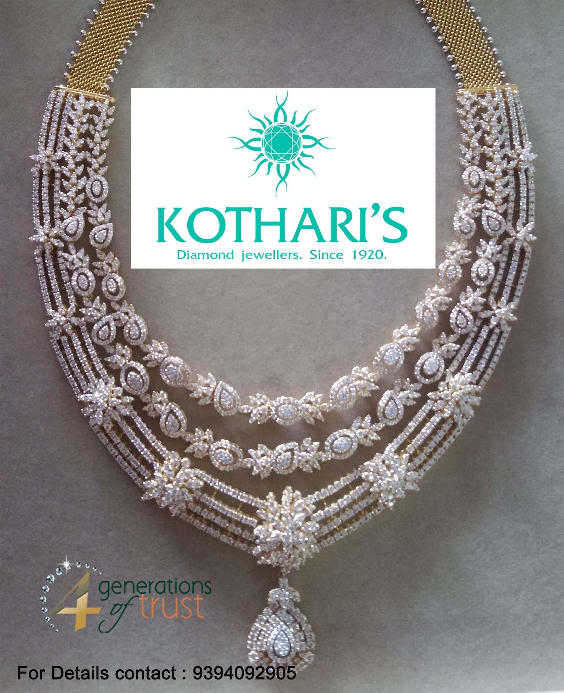 Three step heavy bridal diamond necklace that will surely brighten