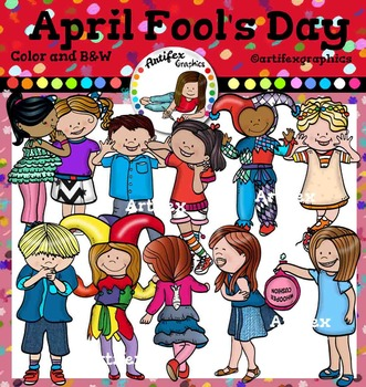 April Fool S Day Clip Art Color And B W Magazines For Kids