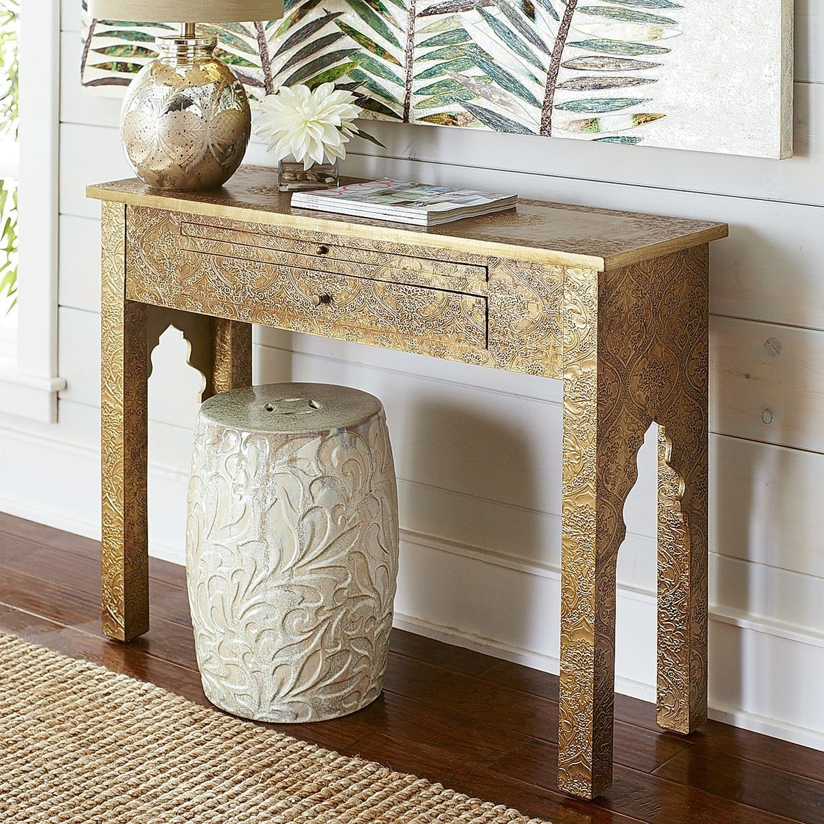 Marrakesh Bedroom Furniture Marrakesh Gold Console Table Console Tables Tables And Gold