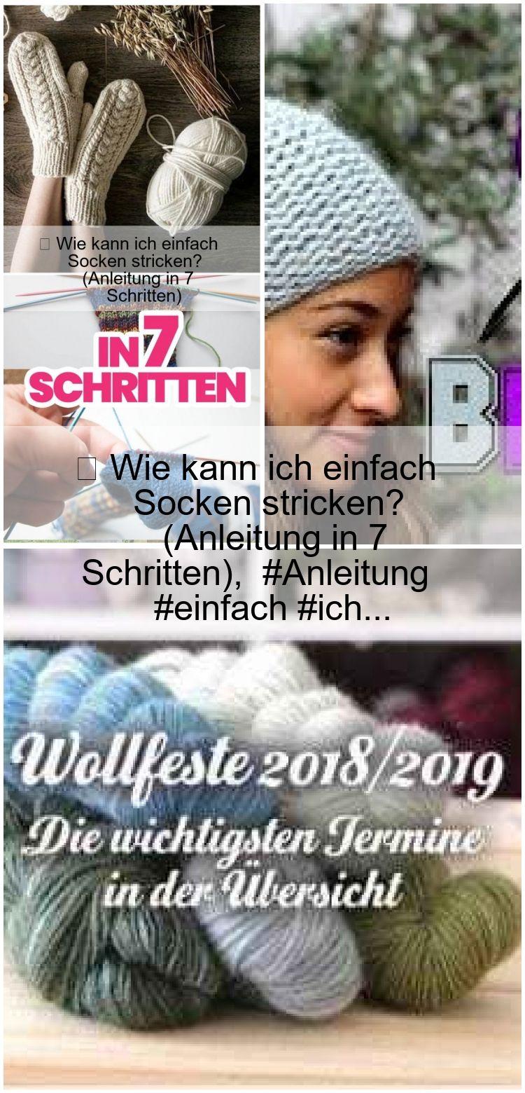Photo of ▷ Wie kann ich einfach Socken stricken? (Anleitung in 7 Schritten),  #Anleitung #einfach #ich…