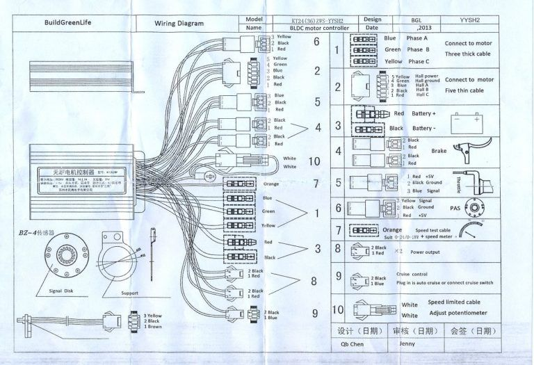 Electric Bike Controller Wiring Diagram Within E Electric Scooter Electric Bike Electric Bike Kits