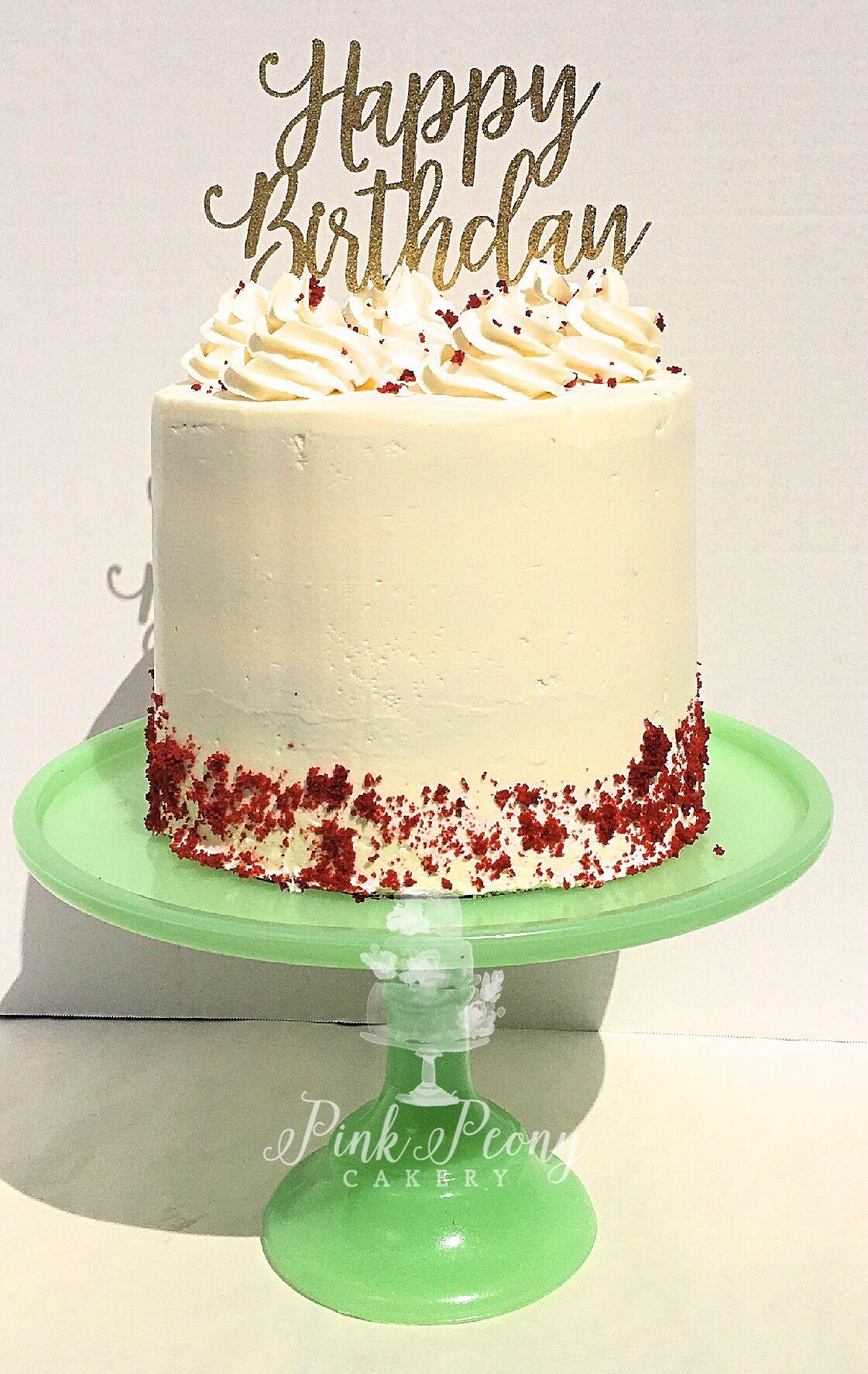 Red Velvet Birthday Cake Pink Peony Cakes Wedding